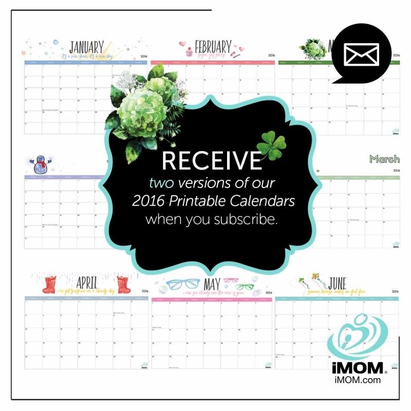 2016 Free Printable Calendars For Kids Imom