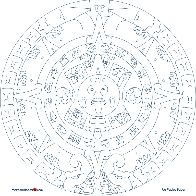 Best Photos Of Mexican Mayan Mask Coloring Page Mayan Mask