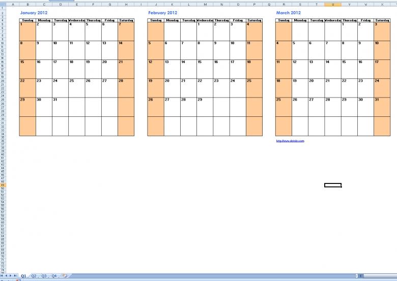 Best Photos Of Printable Quarterly Calendar Templates Free