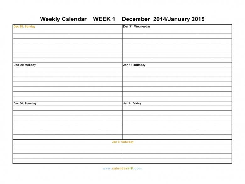 Best Printable Two Week Calendar Calendar Template 2016