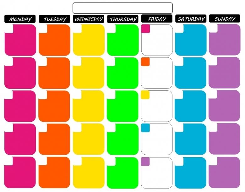 Koolbeenz My Free Printable Calendar 11quotx14quot Tropical Colors