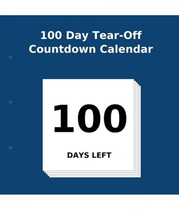 100 Day Tear Off Countdown Calendar Globalbookmart  Xjb