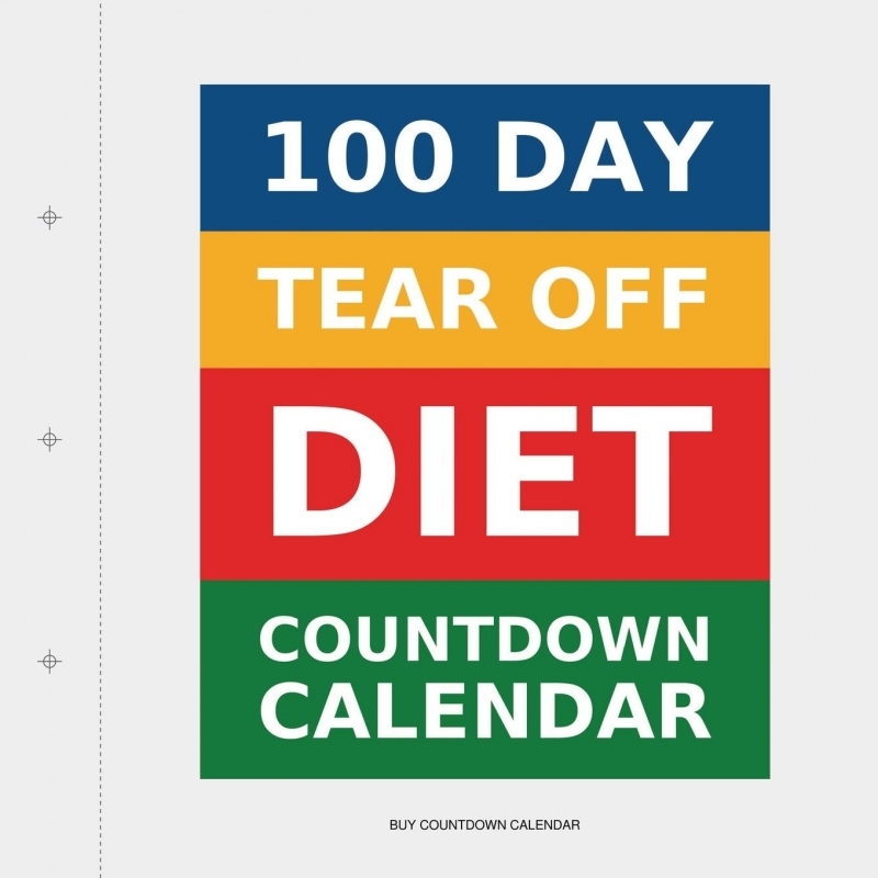 100 Day Tear Off Diet Countdown Calendar Products I Love Pinterest  Xjb