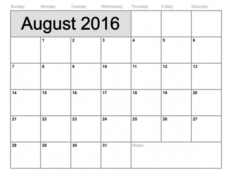 6 Best Images Of 8 X 11 Printable Calendar August 2016 Printable 89uj