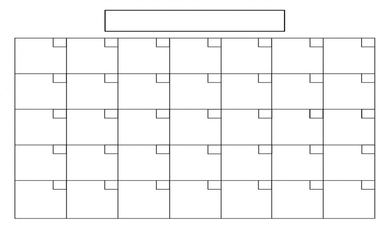 7 Best Images Of Full Size Blank Printable Calendar Printable3abry