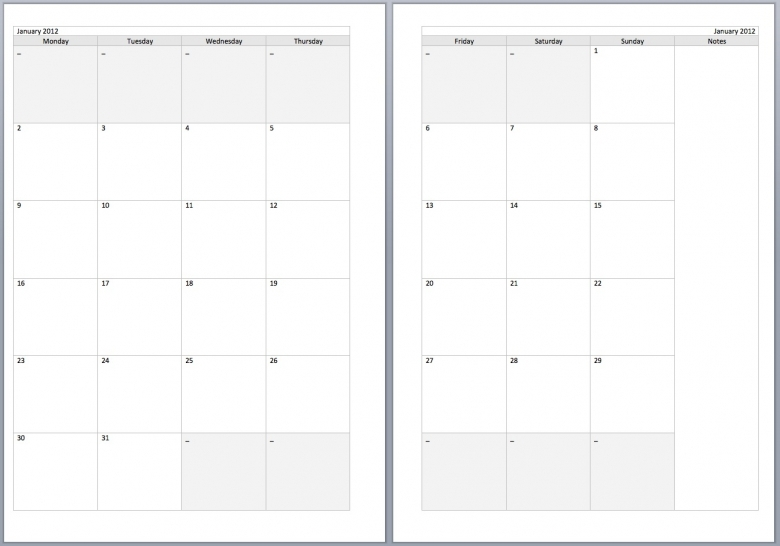 8 Best Images Of 2016 Printable 2 Page Per Month Planner Pages3abry