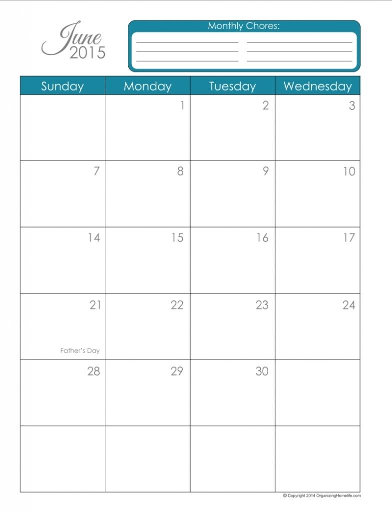 85 X 11 Calendar Template Calendar Printable 20163abry