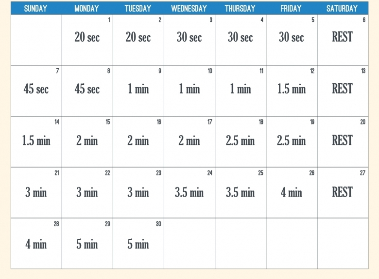 9 Best Images Of 30 Day Calendar Printable 30 Day Shred3abry
