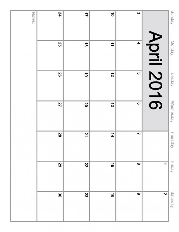 April 2016 Calendar Printable Template 8 Templates3abry