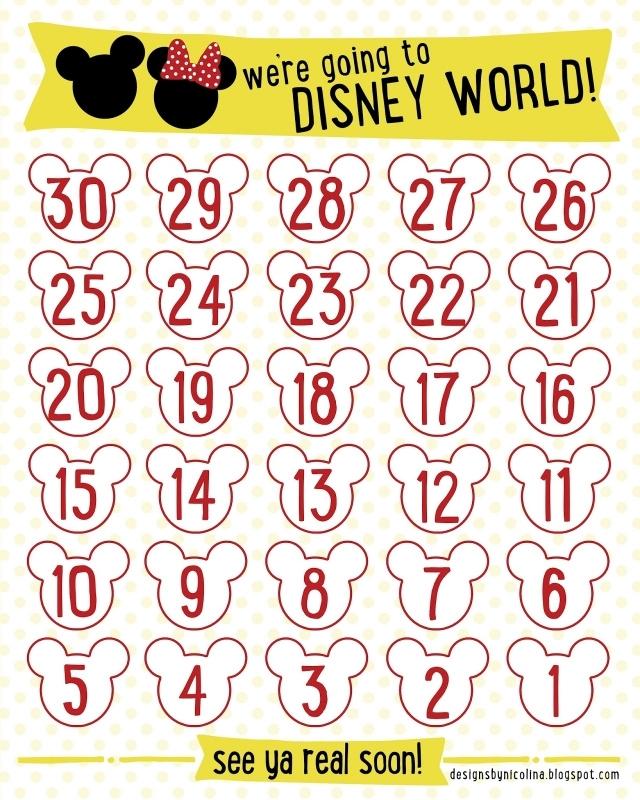 Designs Nicolina Disney Countdown Free Printable3abry