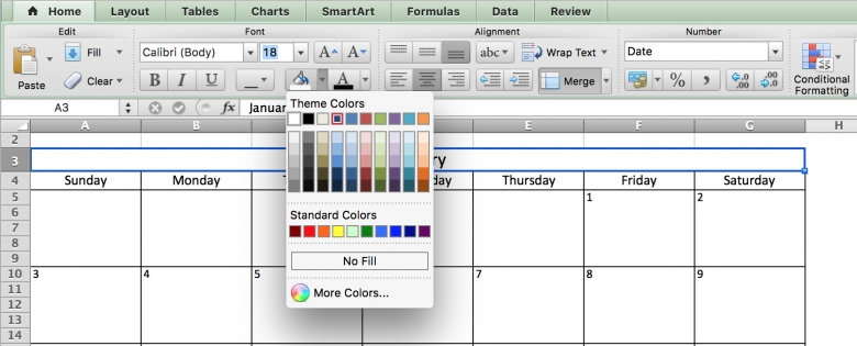 Make A 2016 Calendar In Excel Includes Free Template3abry