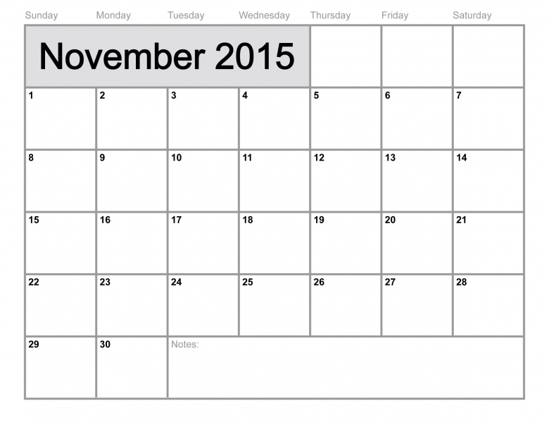 November 2015 Calendar Printable Template 8 Templates3abry