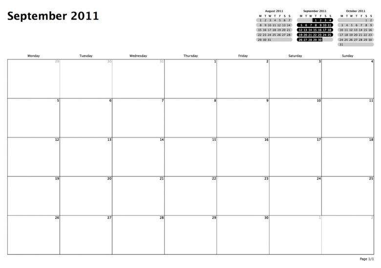 Philofaxy Monthly View Calendars 89uj