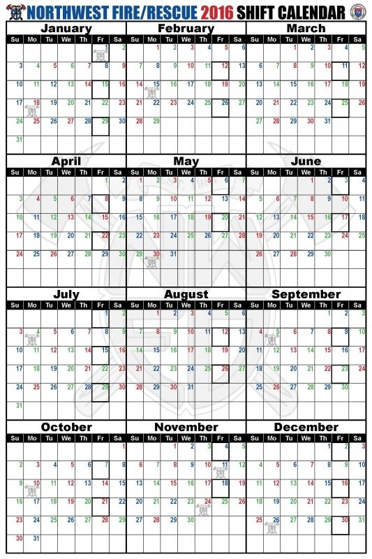 Shift Schedules Northwest Fire District  Xjb