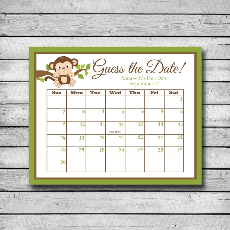 Unique Monkey Calendar Related Items Etsy3abry