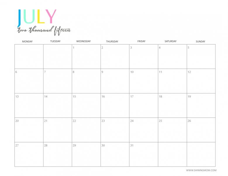 7 Best Images Of Cute Free Printable School Calendar 2015 Free3abry