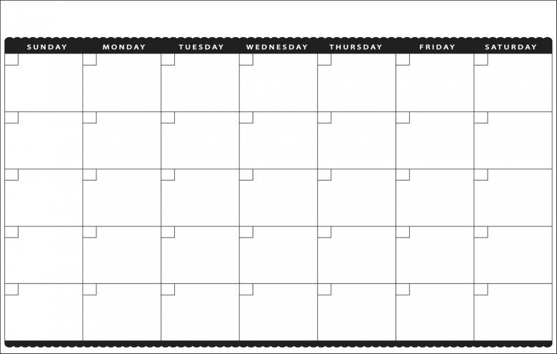7 Best Images Of Cute Printable Blank Calendar Cute Blank3abry