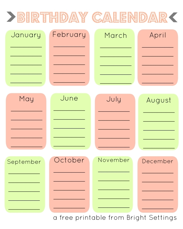 7 Best Images Of Fillable Birthday Calendar Printable Free Free  Xjb