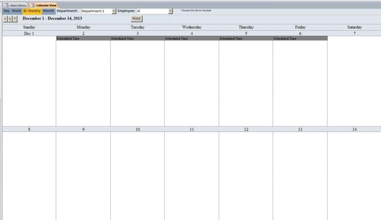 Bi Weekly Calendar Template Calendar Template  xjb