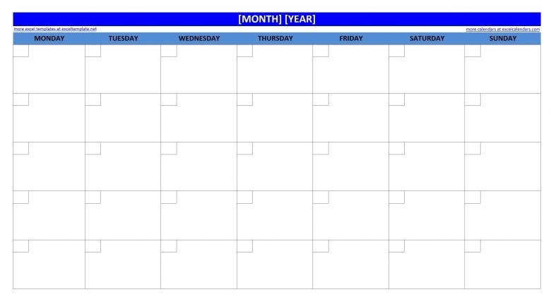 Blank Excel Calendar Blank Calendar Design 2016  Xjb
