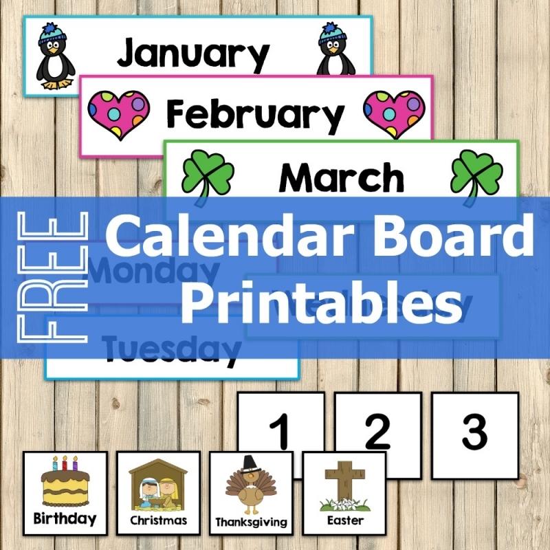 Free Calendar Board Printables My Joy Filled Life3abry