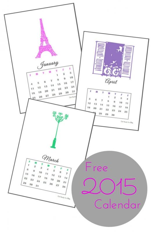 Free Printable Calendar For 2015 Get Ready For Paris3abry