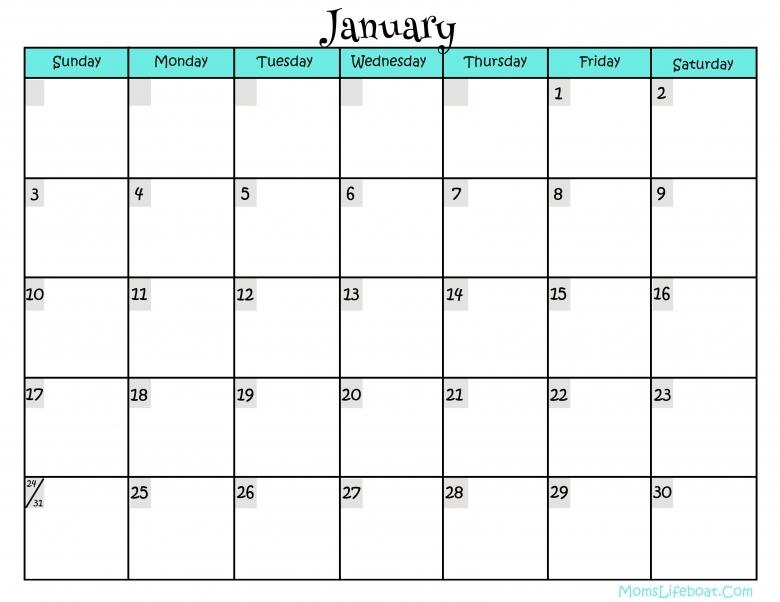 Free Printable Calendar Templates Mybissim3abry