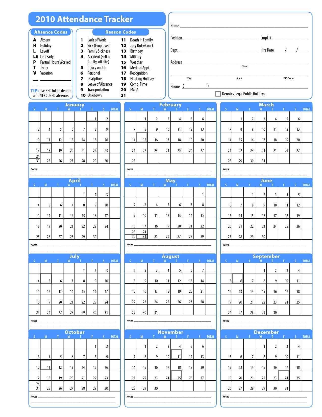 Free Template For Attendance Calendar Blank Calendar Design 2016 89uj