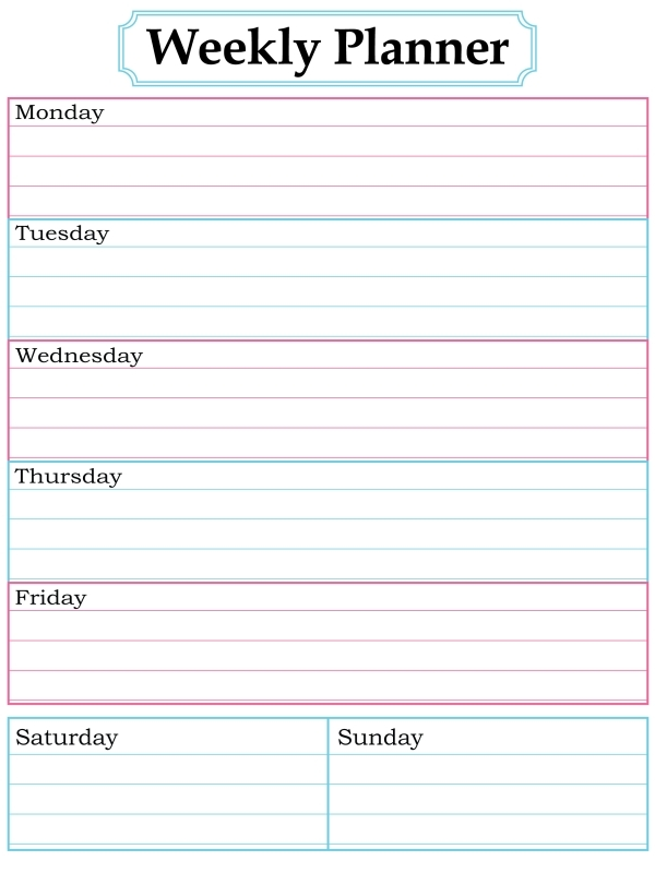 1000 Images About Printable Weekly Calendars On Pinterest3abry
