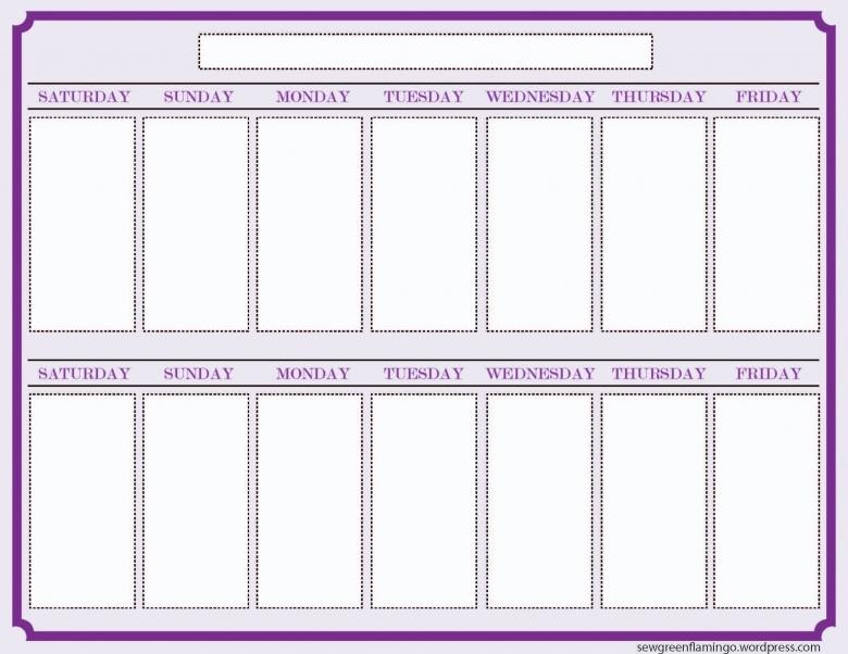 6 Best Images Of Printable 2 Week Blank Calendar Template  xjb