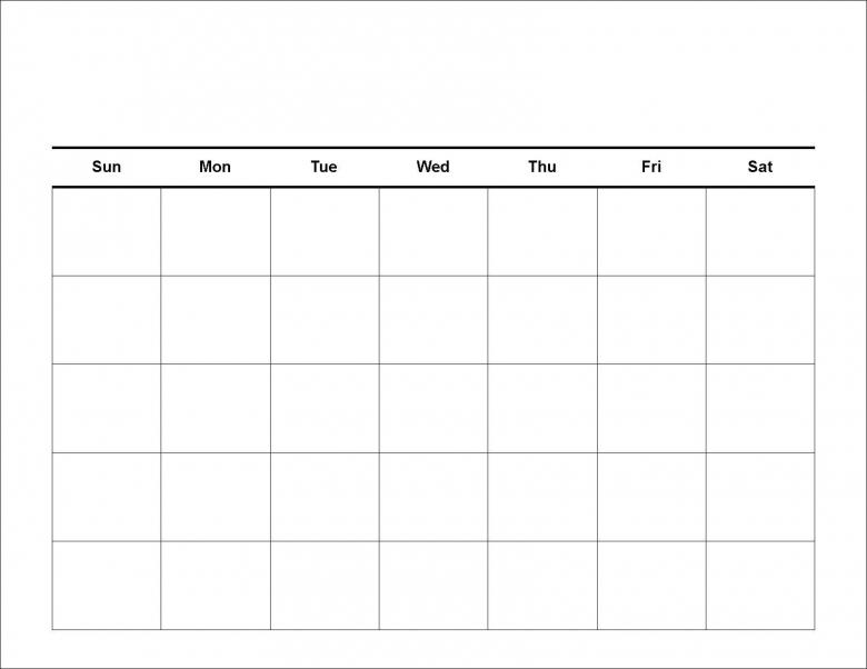 Blank Calendar Template Fotolip Rich Image And Wallpaper3abry