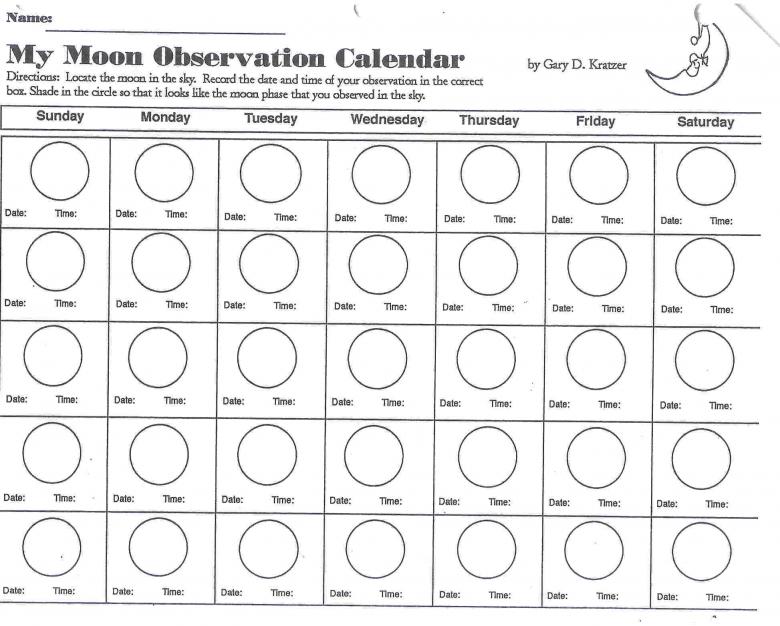 Printable Moon Phase Chart3abry