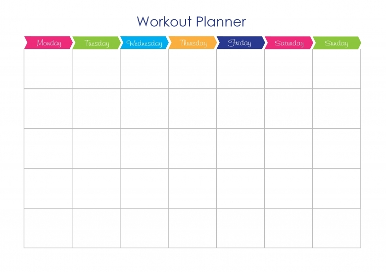 Weekly Exercise Plan Template  Xjb