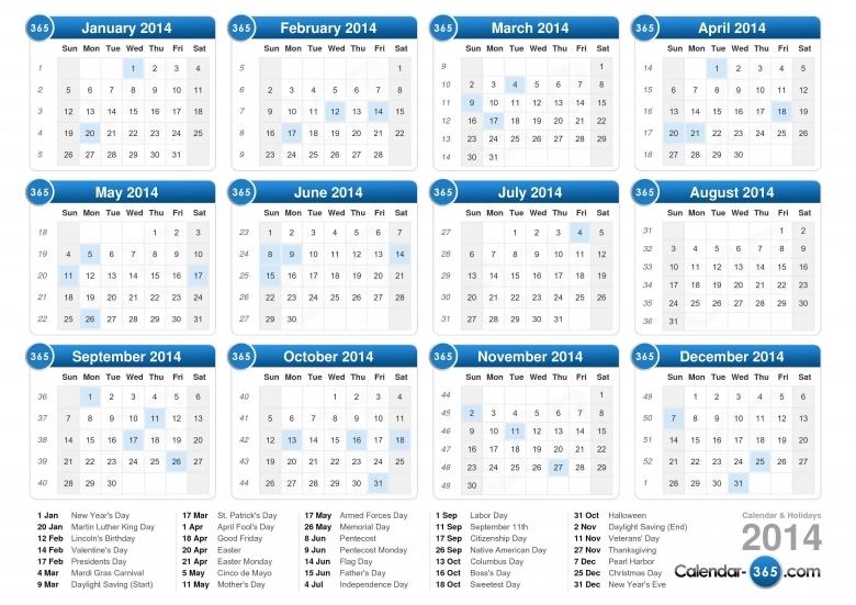 2014 Calendar 89uj