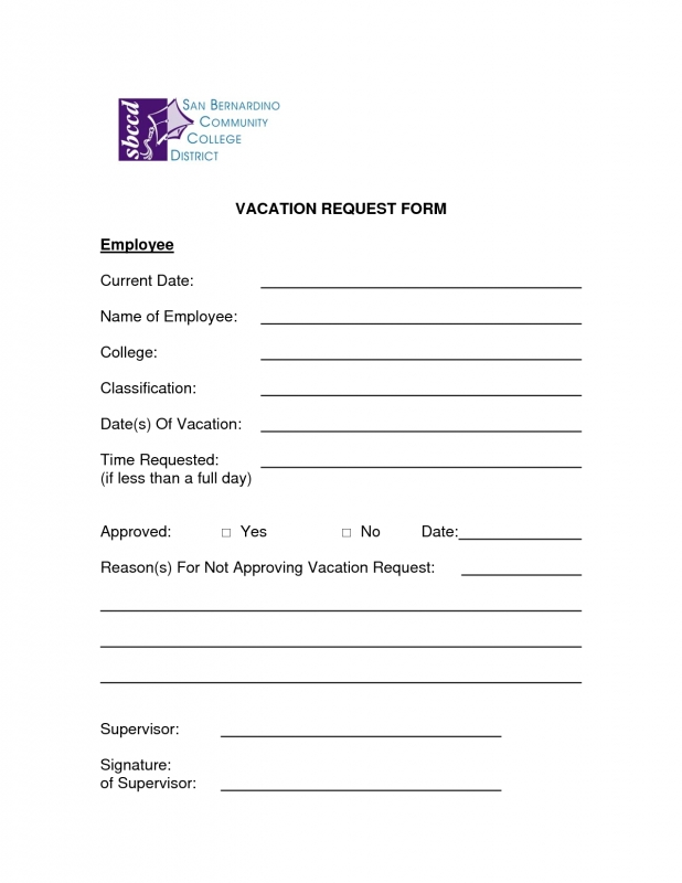 5 Vacation Request Form Templates Excel Xlts  xjb