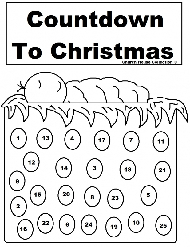Advent Calendar Coloring Pages Getcoloringpages3abry