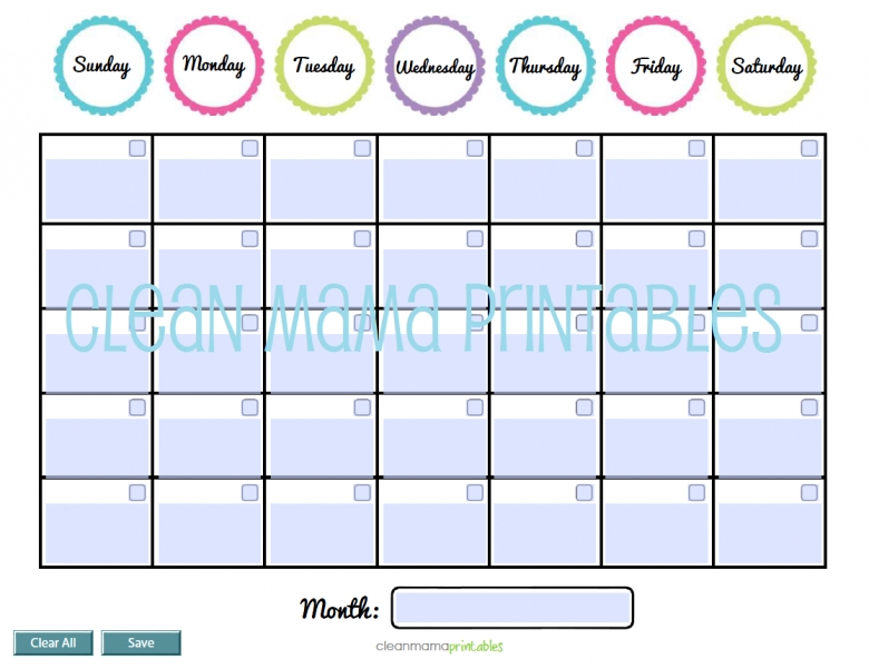 Best Photos Of Downloadable Editable Calendars Free Printable3abry