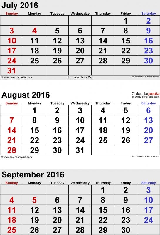 September 2016 Calendars For Word Excel Amp Pdf  xjb