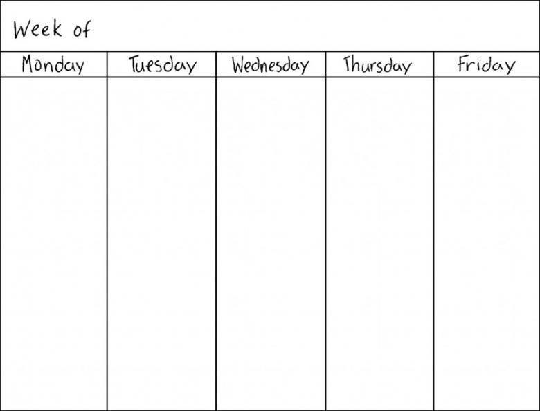 Best Photos Of Blank 7 Day Calendar 5 Day Week Blank Calendar 89uj