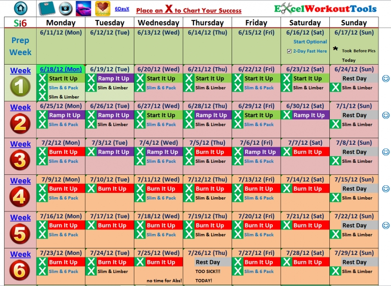 Excel Workout Tools  xjb