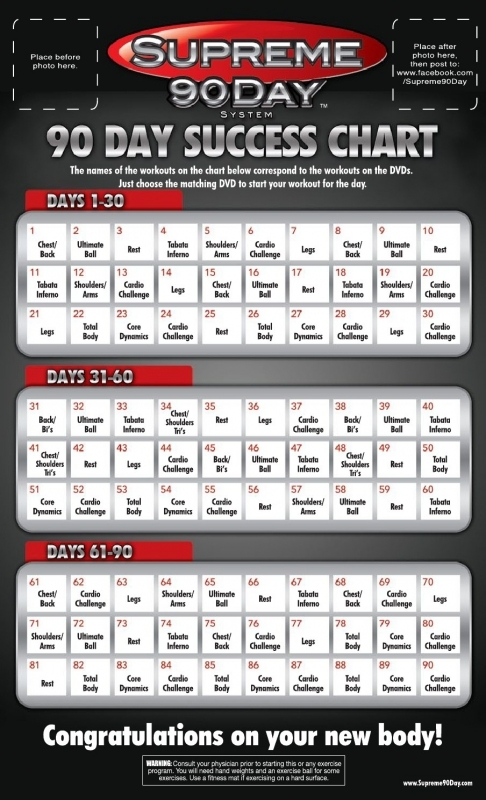 Supreme 90 Day Workout Schedule With Time For Once In My Life  xjb