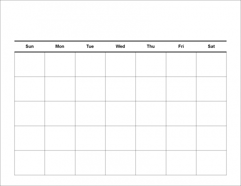 1000 Images About Blank Calendar On Pinterest Blank Monthly  xjb