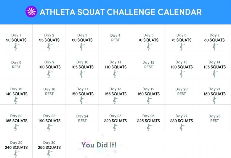 30 Day Squat Challenge Chi Blog  xjb