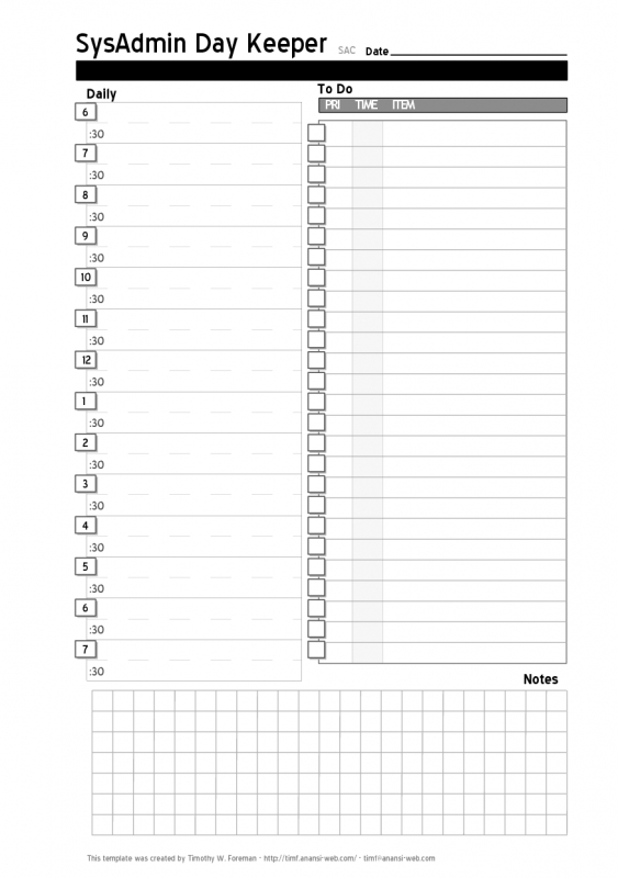 Daily Project Organizer Templates Free Free Daily Planner3abry