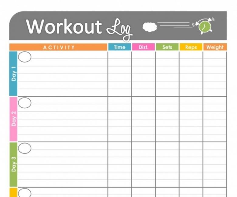 Workout Calendar Template Blank Printable Calendar 2017 Printable3abry