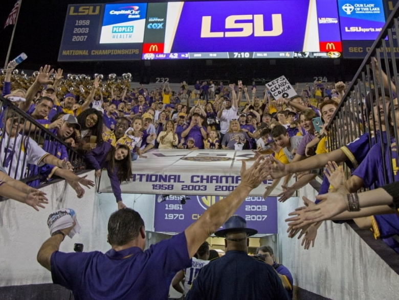 Coach Os First Ride Etling Needs To Slide Your Lsu Football3abry