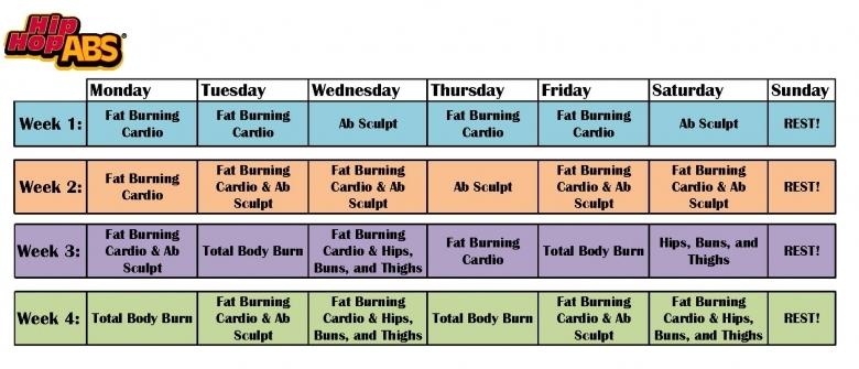 Workout Calendar For Hip Hop Abs Calendar Template  Xjb