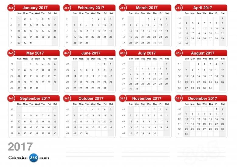 2017 Calendar 89uj