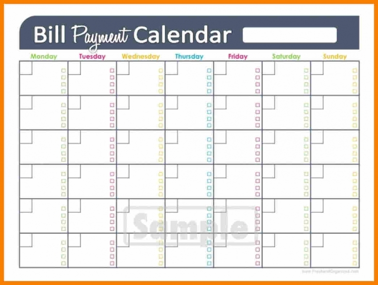 6 Monthly Bill Calendar Monthly Budget Forms  xjb