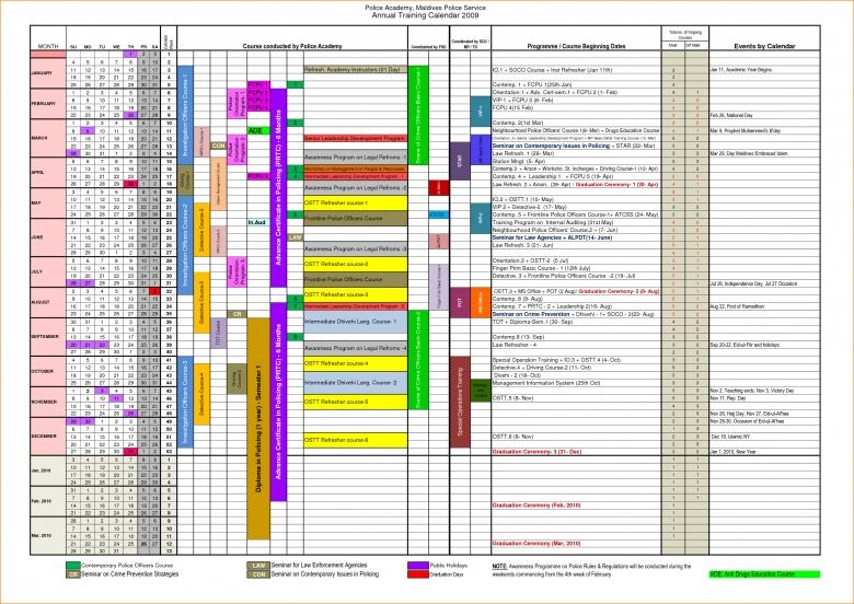 Calendar Annual Training Calendar Template3abry